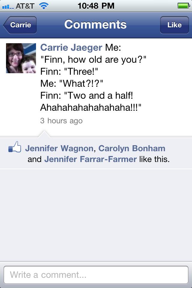 Finny cracks a joke