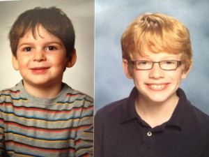 Finny & Gabe school pictures, 2012