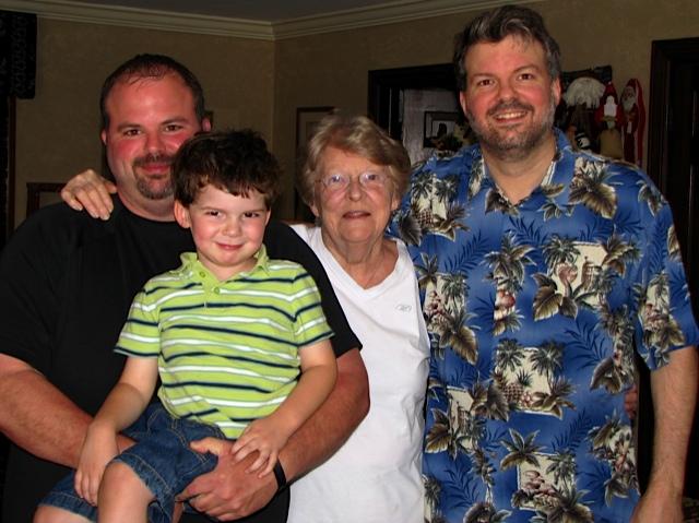 Finny, Uncle Gussie, Grandma Betty Sue, & Daddy