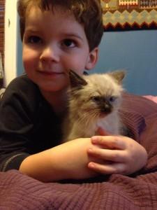 Finny with his new kitten Josie