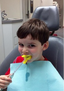 2013 0129 Finny at the dentist!