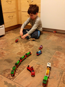 Finny with trains