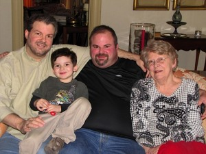 Finny, Daddy, Uncle Gussie, & Grandma Betty Sue
