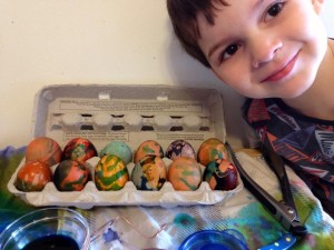 Finny with Easter eggs