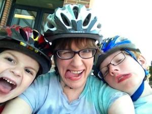 Finny, Mama, Gabe looking goofy